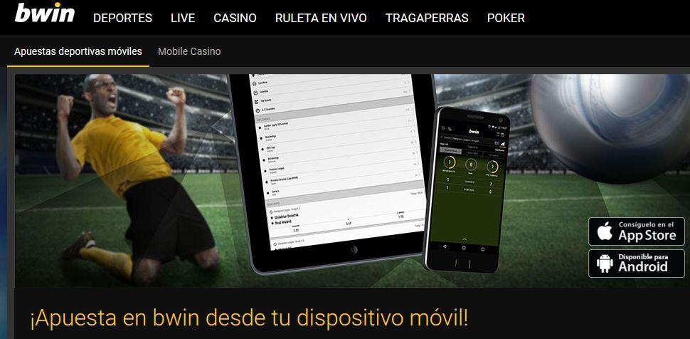 Aplicación para iphone de Bwin