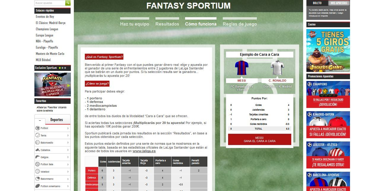 Apuesta en el fútbol con Sportium