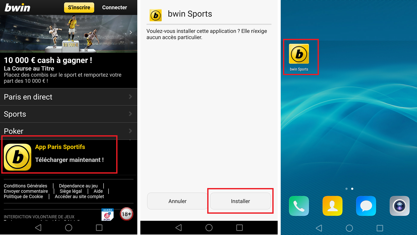Télécharger Application Bwin Sport