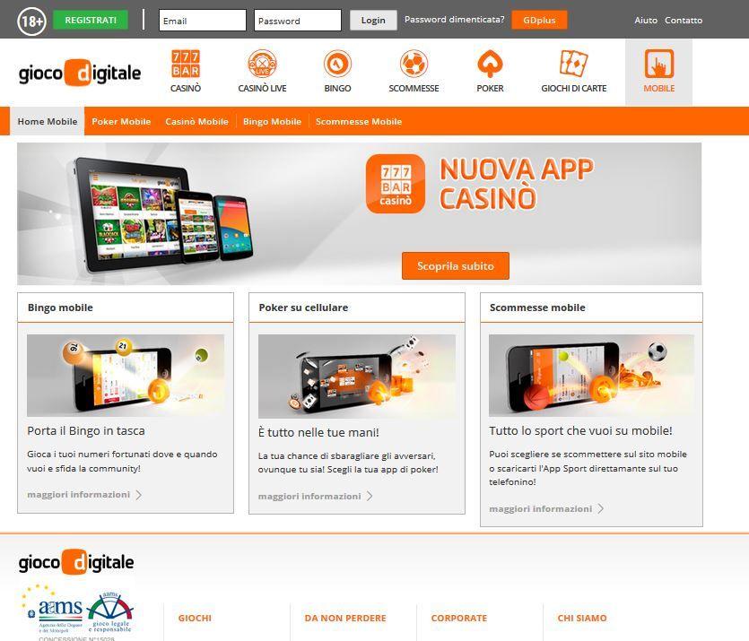 Gioco Digitale App